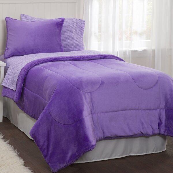 Neel Lavender Reversible Comforter Set by Latitude Run