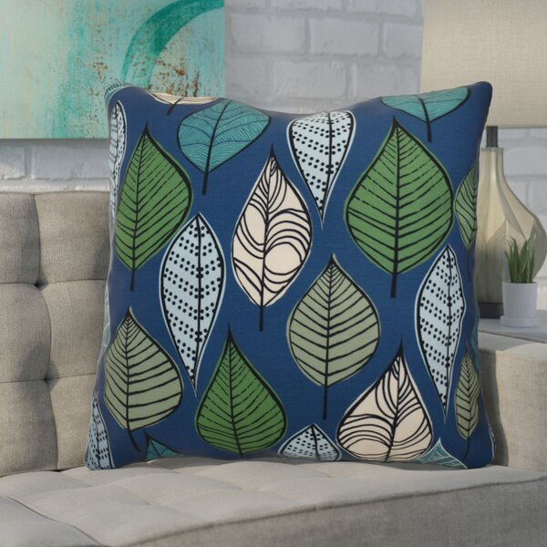 Avalos Leaves Floral Euro Pillow by Ivy Bronx