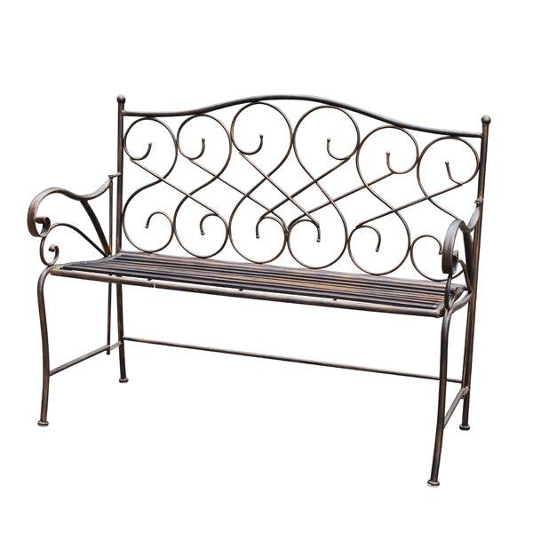 Wilks Metal Garden Bench by Fleur De Lis Living Fleur De Lis Living