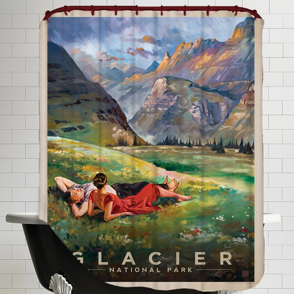 Glacier Shower Curtain by East Urban Home