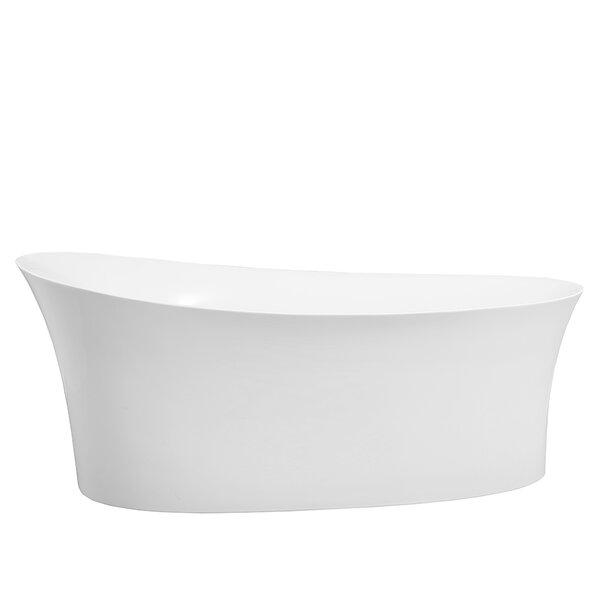 Fano 67 x 33 Freestanding Soaking Bathtub by Vinnova