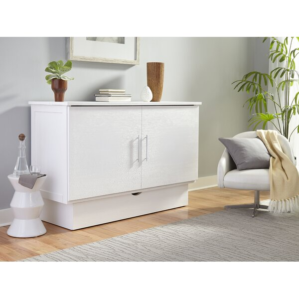 Horizon Magnolia Queen Storage Murphy Bed with Mattress by Latitude Run Latitude Run