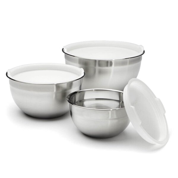 Heuck 5 Piece Stainless Steel Mixing Bowl Set by Columbian Home Products