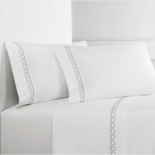 Loops 300 Thread Count Percale Sheet Set by Melange Home