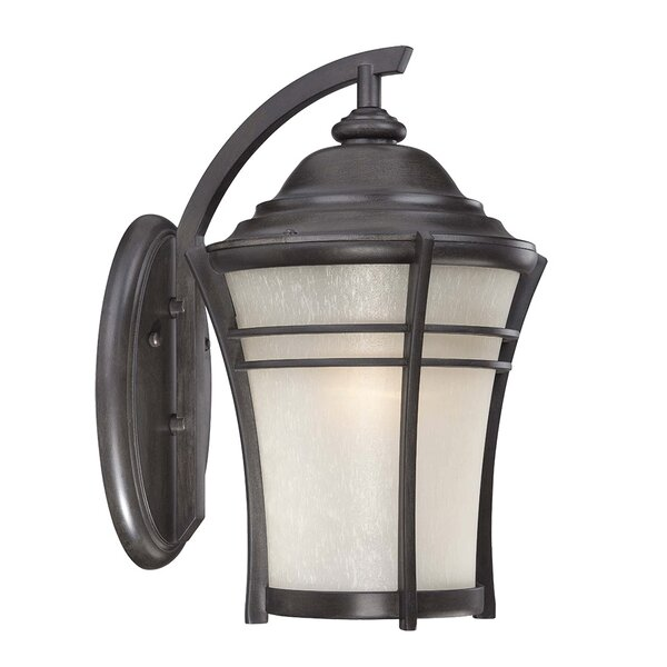 Petersen 1-Light Outdoor Wall Lantern by World Menagerie