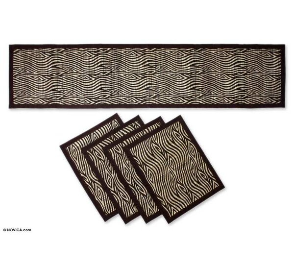 5 Piece Natural Fiber Placemat Set by Novica