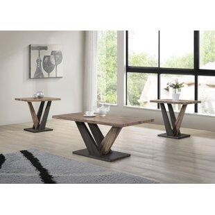Uriarte Piece Coffee Table Set Gracie Oaks Herry Up Earth Tone - Coffee end and sofa table sets