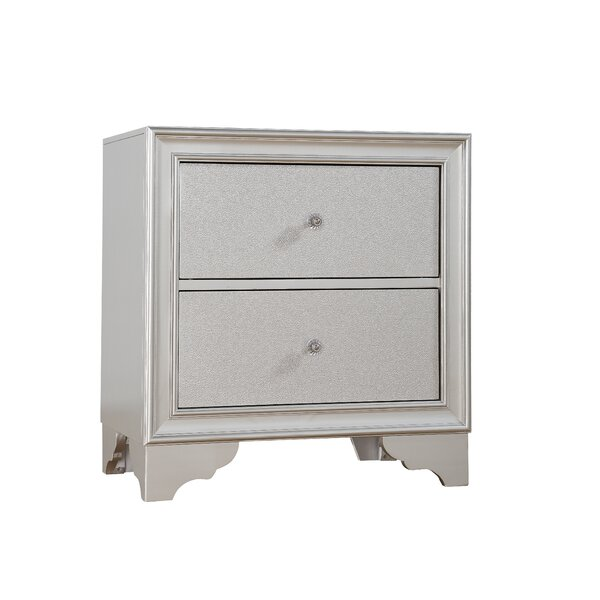 Finnley 2 Drawer Nightstand by House of Hampton