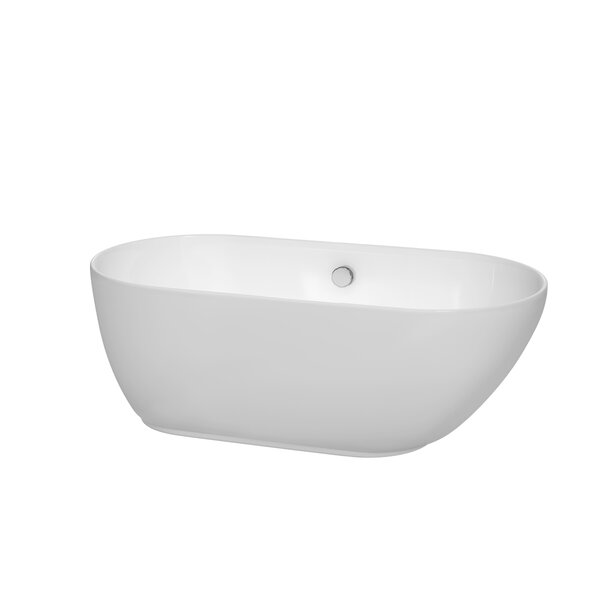 Melissa 60 x 29 Freestanding Bathtub by Wyndham Collection