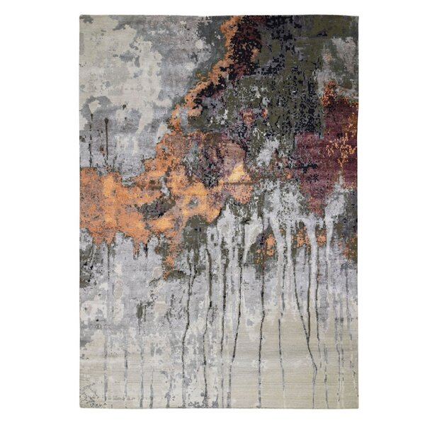 One-of-a-Kind McElhattan Hand-Knotted Gray 8'10 x 12'3 Area Rug