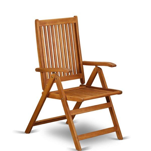 Stuart Folding Patio Dining Chair (Set of 2) by Longshore Tides