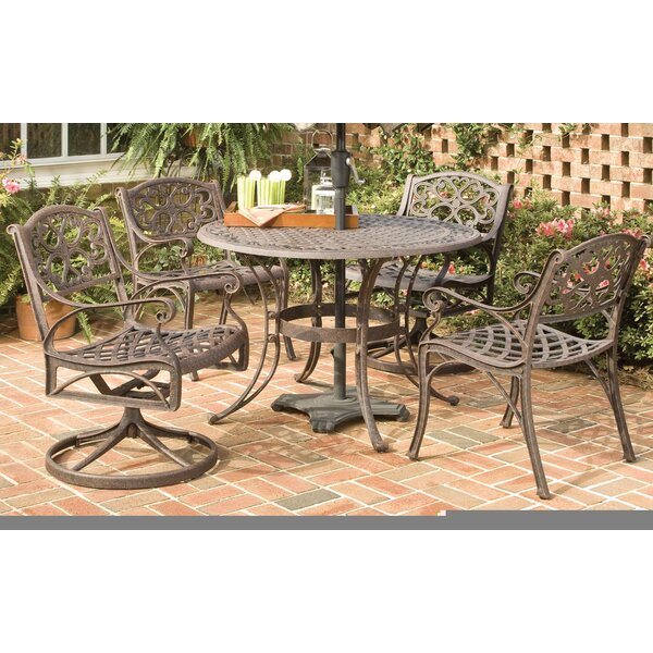 Van Glider 5 Piece Outdoor Dining Set by Astoria Grand