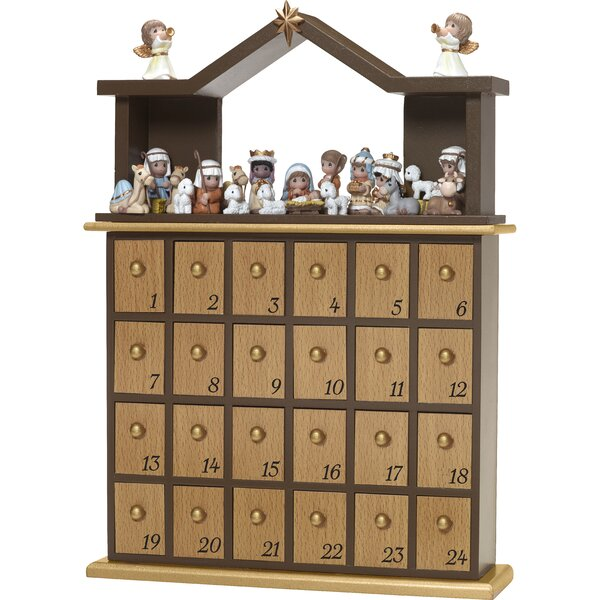 26 Piece Nativity Advent Calendar Set by Precious Moments