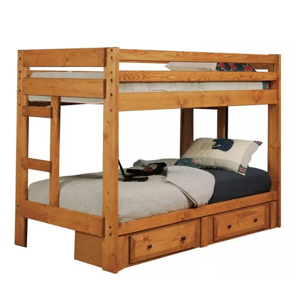 Waite Twin over Twin Bunk Bed with Under Storage Drawer by Harriet Bee