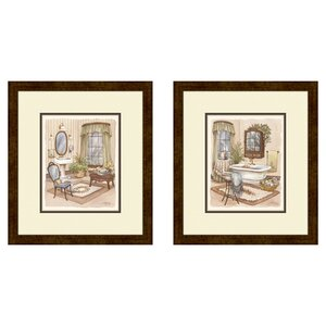 'Sage' 2 Piece Framed Painting Print Set by Lark Manor