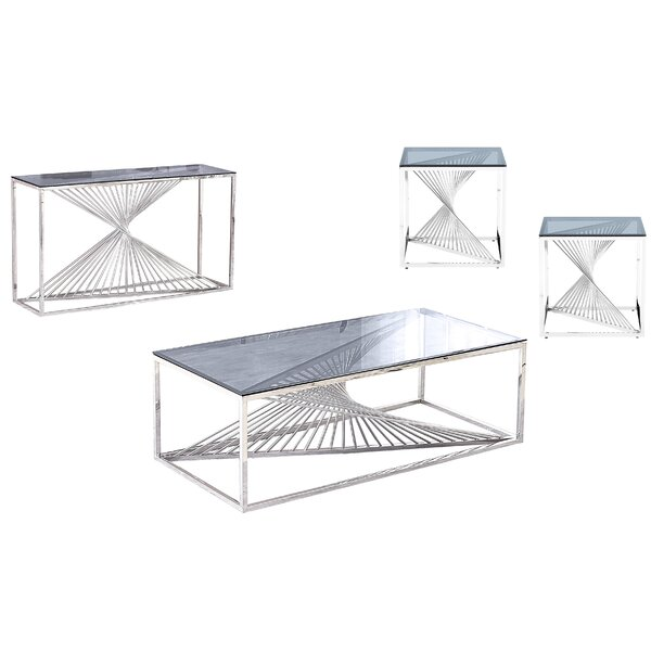 Jeffreys 4 Piece Coffee Table Sets by Everly Quinn Everly Quinn