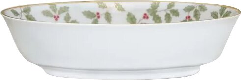 Holly and Berry Gold Vegetable Bowl by Noritake