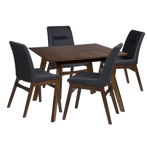 Maxson 5 Piece Solid Wood Dining Set by Wrought Studio