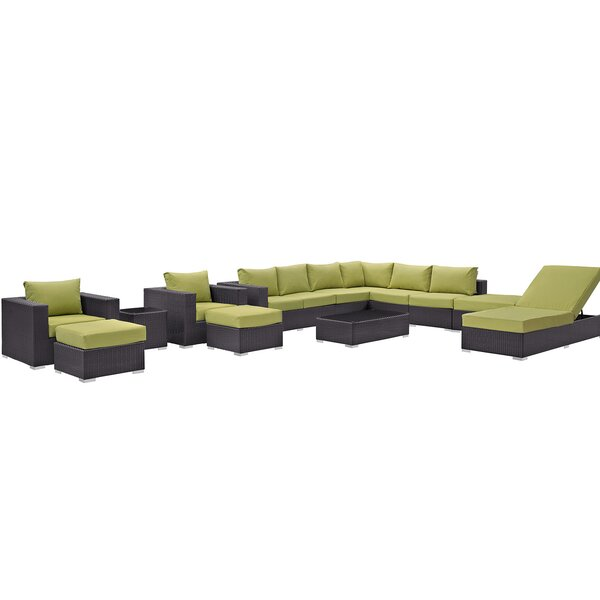 Brentwood 12 Piece Rattan Sectional Seating Group with Cushions by Sol 72 Outdoor Sol 72 Outdoor