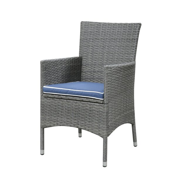Morecambe Patio Dining Chair with Cushion (Set of 3) by Darby Home Co