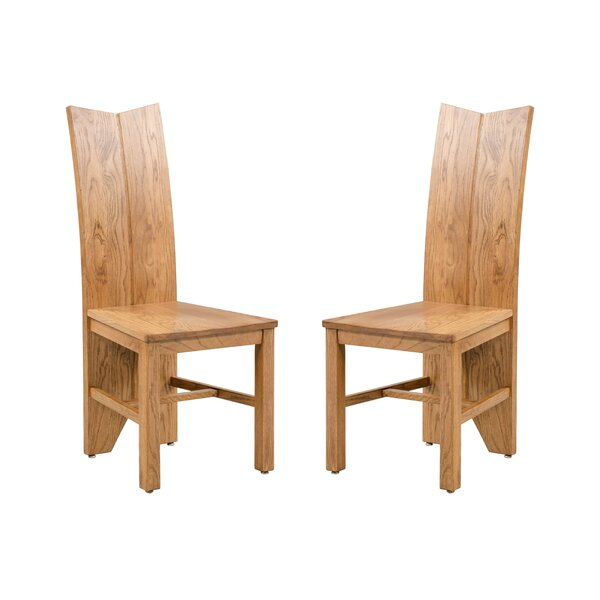 Alicia Solid Wood Dining Chair (Set of 2) by Foundry Select Foundry Select