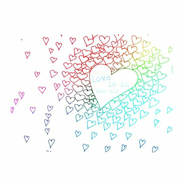 Rainbow Hearts Placemat by KESS InHouse