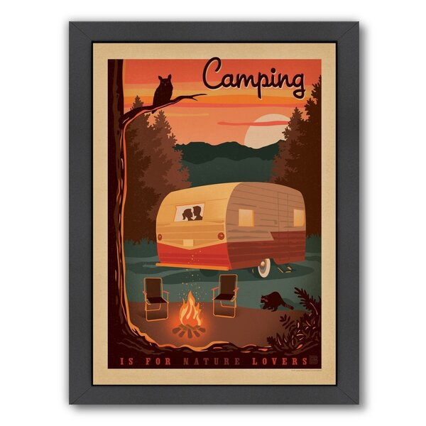 Lake Camper Framed Vintage Advertisement by Loon Peak