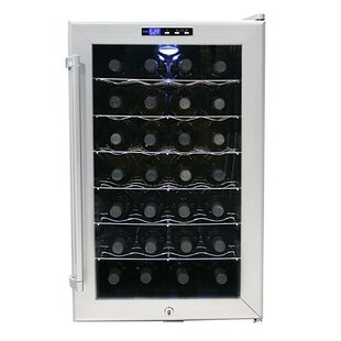 28 Bottle Single Zone Freestanding Wine Cooler By Whynter