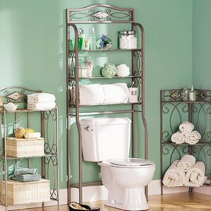 Bathroom Etagere over the toilet storage cabinets | wayfair