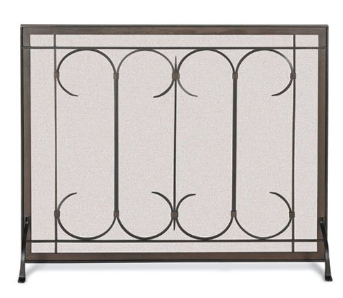 Gate Single Panel Iron Fireplace Screen By Pilgrim Hearth