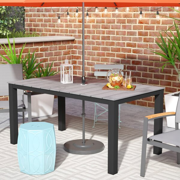 Ellport Plastic Patio Dining Table by Latitude Run