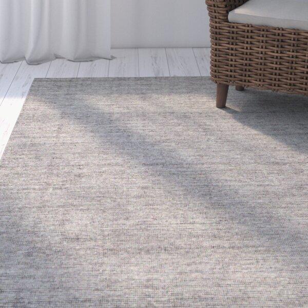 Afton Hand-Loomed Dark Gray Area Rug by Beachcrest Home