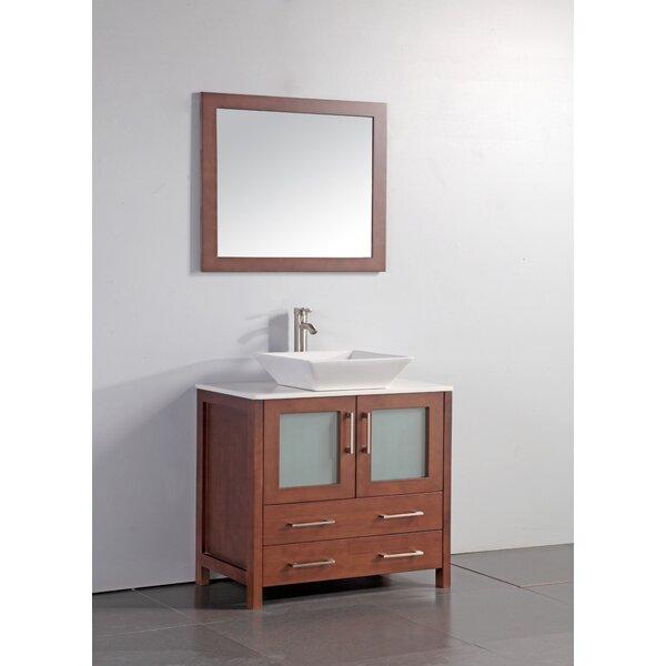 Neuhaus 36 Single Bathroom Vanity Set with Mirror by Ebern DesignsNeuhaus 36 Single Bathroom Vanity Set with Mirror by Ebern Designs