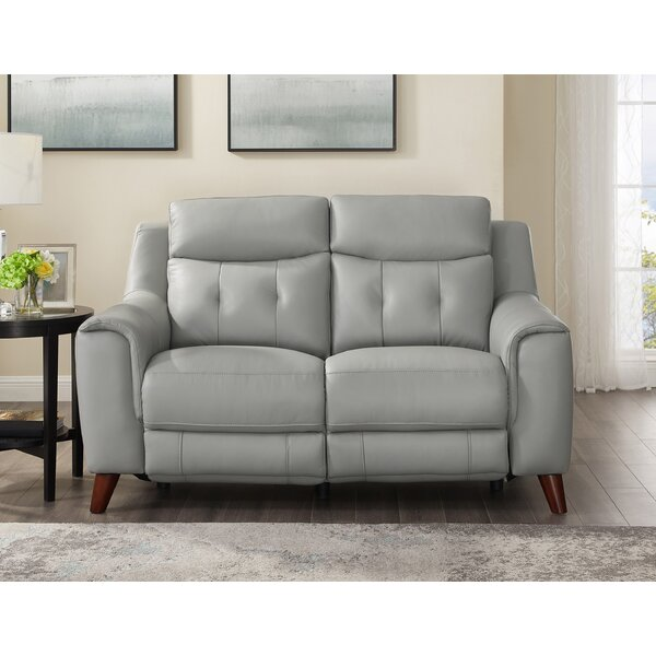 Tortuga Leather Reclining Loveseat By Wrought Studio