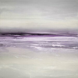 'Sway in Amethyst' Painting Print on Wrapped Canvas by East Urban Home