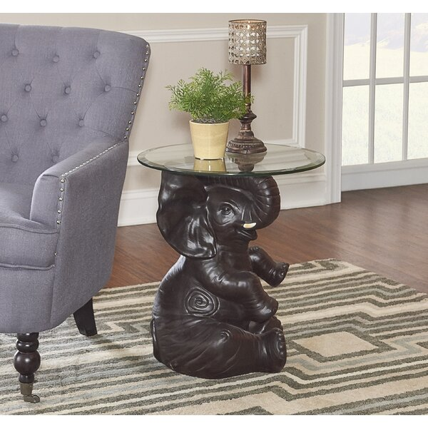 Fateh Elephant End Table by World Menagerie