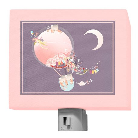 Kites and Kittens Night Light by Oopsy Daisy