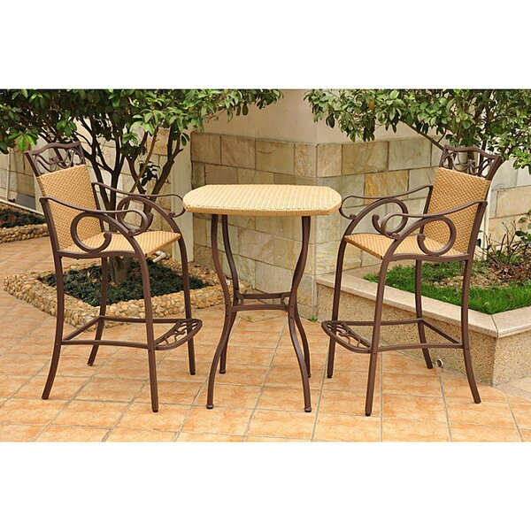 Meetinghouse 3 Piece Bar Height Dining Set by Three Posts
