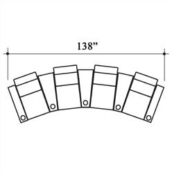 Penthouse Leather Home Theater Row Seating (Row Of 4) By Bass