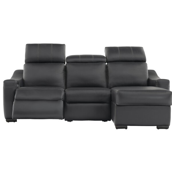 Cliffsage Leather Right Hand Facing Reclining Sectional By Latitude Run