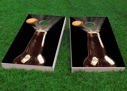 Beer Bottle Blowing Top Cornhole Game (Set of 2) by Custom Cornhole Boards