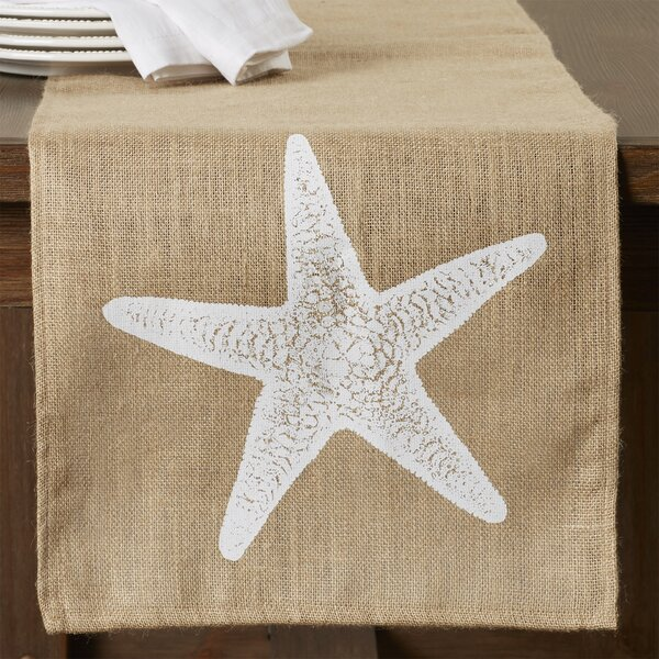 Winchester Burlap Table Runner by Beachcrest Home