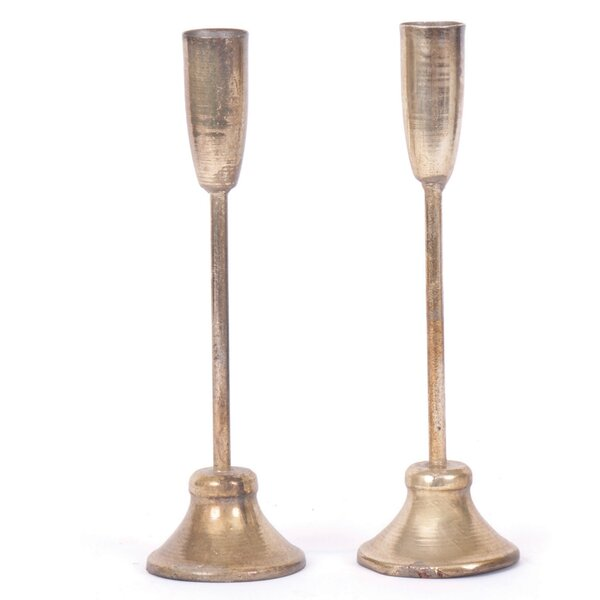 Brass Candlestick (Set of 2) by Darby Home Co