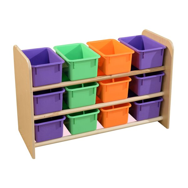 See-All 12 Compartment Cubby with Trays by Wood Designs