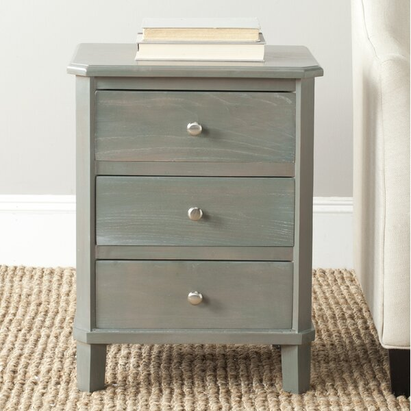 Joanna Solid Wood 3 Drawer End Table by Lark Manor Lark Manor
