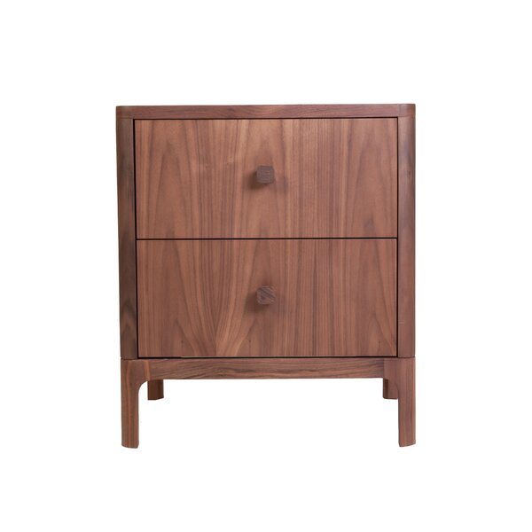 Ozzie 2 Drawer Nightstand By Brayden Studio by Brayden Studio 2020 Sale