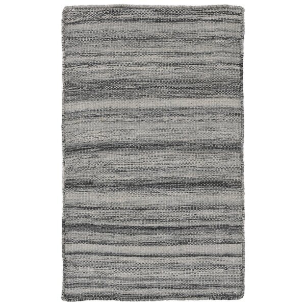 Boerner Ombre Hand-Woven Gray Indoor/Outdoor Area Rug by Highland Dunes