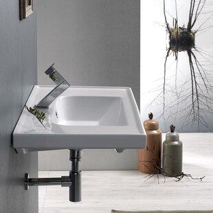 Read Reviews Frame Ceramic Rectangular Drop-In Bathroom Sink with Overflow ByCeraStyle by Nameeks