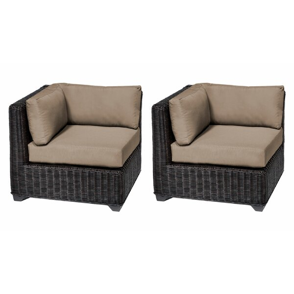 Mejia Patio Chair with Cushions (Set of 2) by Rosecliff Heights