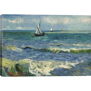 'Seascape Near Les Saintes Maries De La Mer' by Vincent van Gogh Graphic Art Print by East Urban Home